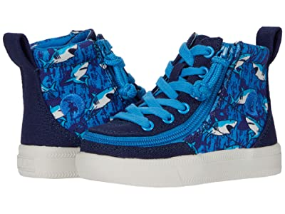 BILLY Footwear Kids Classic Lace High (Toddler) (Blue Sharks) Kid