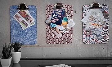 Paquete de Tablas Portapapeles con clip de resorte y recubrimiento de tela, Clipboard, tamaño legal, Set de 3 Piezas)
