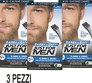 3 X JUST FOR MEN BARBA Y BAFFI COLOR TINTURA HOMBRE