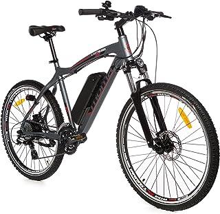 "Moma Bikes Bicicleta de Montaña E-MTB-26 "", Suspension simple, Alu. SHIMANO 24V, Doble Freno Disco, Susp Delan. Bat. Ion L..."
