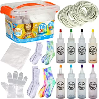 JOYIN Tie Dye Kits for Kids and Adults, 8 Vibrant Colors Set Includes Dye Accessories, 8 Pairs of Socks for Kids and Adult...
