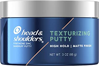 Head & Shoulders Anti-Dandruff Texturizing Putty for Men, Strong Hold, Matte Finish, 3 Oz
