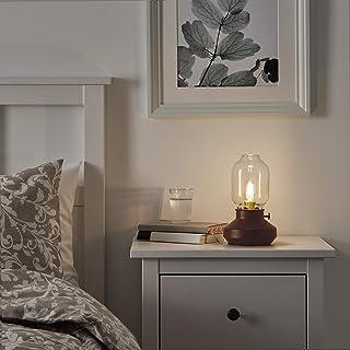 TÄRNABY lámpara de mesa 25 cm rojo oscuro