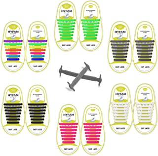 No Tie Shoelaces for Kids/Adults, Waterproof Elastic Silicone Tieless Shoe Laces for Sneakers Board Shoes Casual Shoes