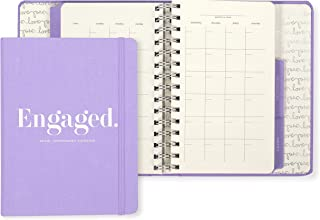 Kate Spade New York Undated Wedding Planner Organizer Weekly and Monthly, Bridal Appointment Calendar Book, Engaged (Purple) photo