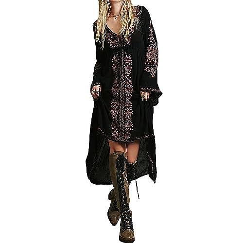 6f0e037fb4 R.Vivimos Womens Cotton Embroidered High Low Long Dresses