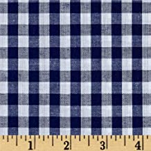 Richland Textiles 0453033 Richcheck 60in Gingham Check 1/4in Navy Fabric by the Yard