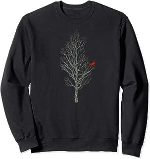 Winter Tree w/ Cardinal Bird Holiday Christmas Sweatshirt