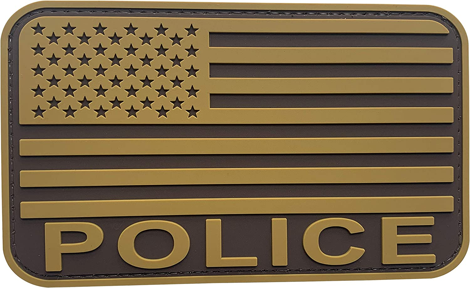 uuKen Coyote Brown Tan Police Flag Law Luxury goods Patch inches 3x5 for PVC Credence