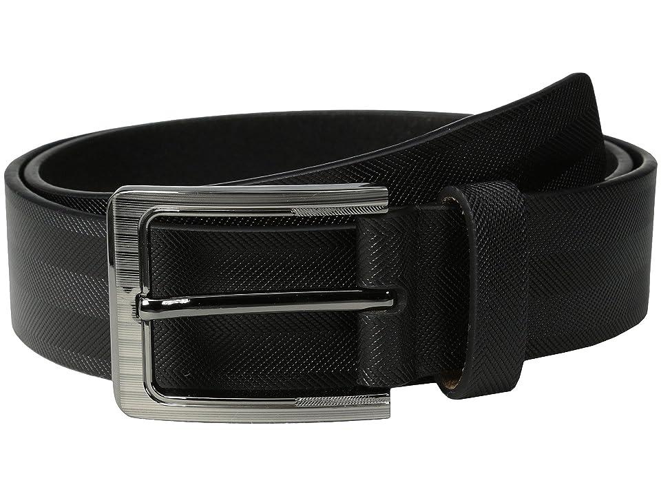 Stacy Adams - Stacy Adams 38mm Genuine Leather with Herringbone Design