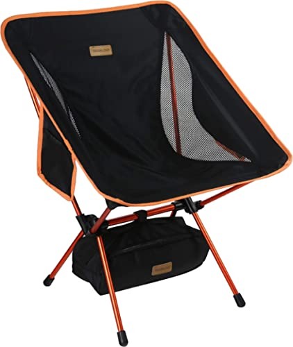Trekology YIZI GO Portable Camping Chair - Compact Ultralight Folding Backpacking Chairs in a Carry Bag, Heavy Duty 3...