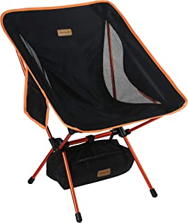Trekology YIZI GO Portable Camping Chair - Compact Ultralight Folding Backpacking Chairs in a Carry Bag, Heavy Duty 300 lb...