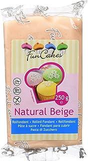 comprar comparacion FunCakes Fondant para Cubrir Tartas, Cupcakes, Galletas o Modelar color Beige Piel: Sabor Vainilla, Flexible, Sin Gluten, ...