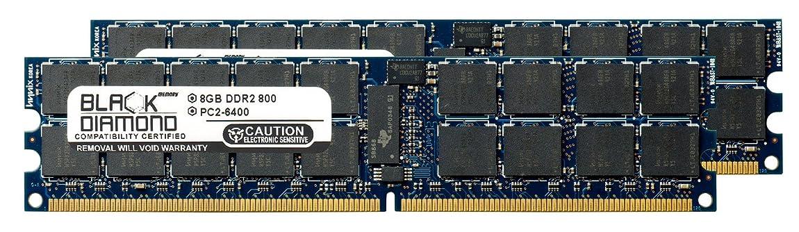 論理的に日の出非難16GB 2X8GB Memory RAM for Compaq ProLiant DL385 G6 240pin PC2-6400 800MHz DDR2 ECC Registered RDIMM Black Diamond Memory Module Upgrade