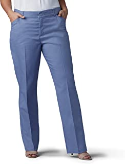LEE Women's Plus Size Flex Motion Regular Fit Straight Leg Pant