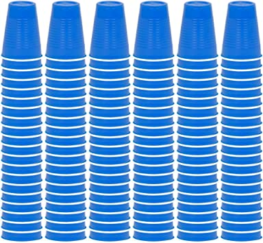 Blue, 60 DecorRack Solo Cups 12 oz Reusable Disposable Cups for Birthday Party Bachelorette Camping Indoor Outdoor Events Beer Pong Beverage Drinking Cups