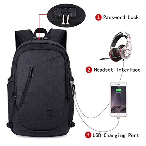 9a609b86a0cf Update Laptop Backpack with USB Charging Port and Lock   Headphone  Compartment