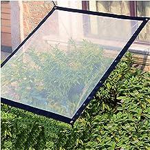 GYOWEI Transparen zeildoek, scheurbestendige tarpen, verdikte waterdichte plantenhoezen, 0,12 mm beschermend dekzeil voor ...