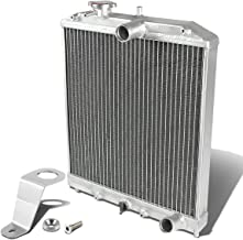 For Honda Civic EG MT (Manual Transmission) 2-Row Dual Core Aluminum Radiator w/Stay Mount Bracket (Silver)