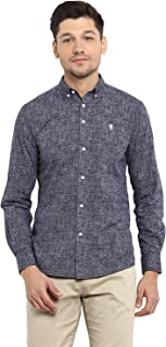 Red Tape Men's Solid Regular Fit Casual Shirt (RSF9024A_Navy_S)
