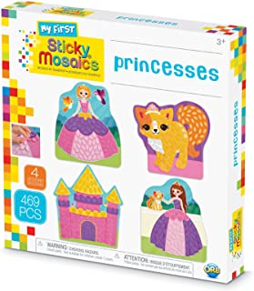 ORB The Factory Sticky Mosaics My First Princesses Arts & Crafts, Purple/Pink/Yellow/Blue, 9.5