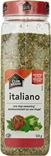 Club House, Quality Natural Herbs & Spices, One Step Seasoning, Italiano, 510g (17.99oz), Product of Canada