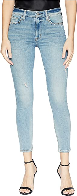 Barbara High-Waist Super Skinny Crop Jeans in Dangerous Wild Nothing