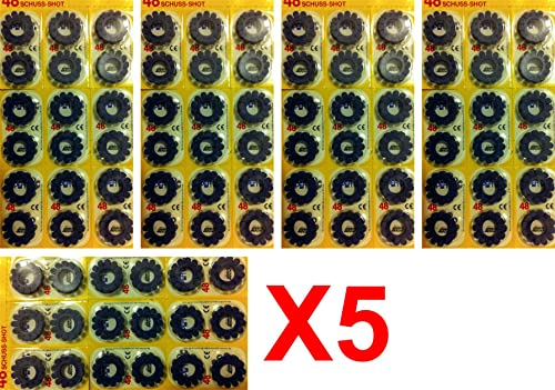 supermativ Lot X 5 Pack Caps for Drum of 12 Cap Gun 96 Rings of 12 Caps 2880 Shots in Total Edison Giocattoli European