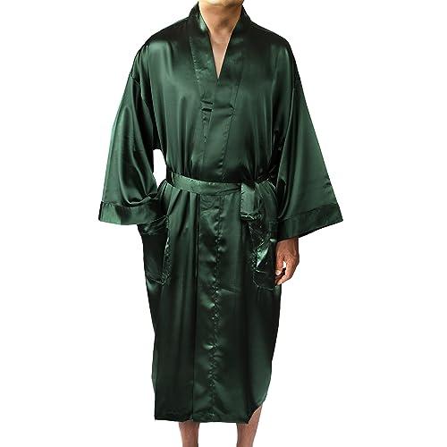 Leisureland Men Satin Robe Long Kimono Robe 48