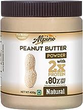Alpino Natural Peanut Butter Powder 400 G (Unsweetened / 15 G Protein / 3 G Fat / Gluten Free / Non-GMO / Vegan)