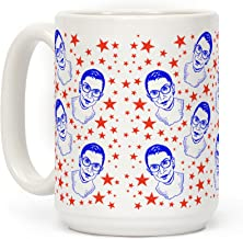 LookHUMAN Red White and RBG White 15 Ounce Ceramic Coffee Mug