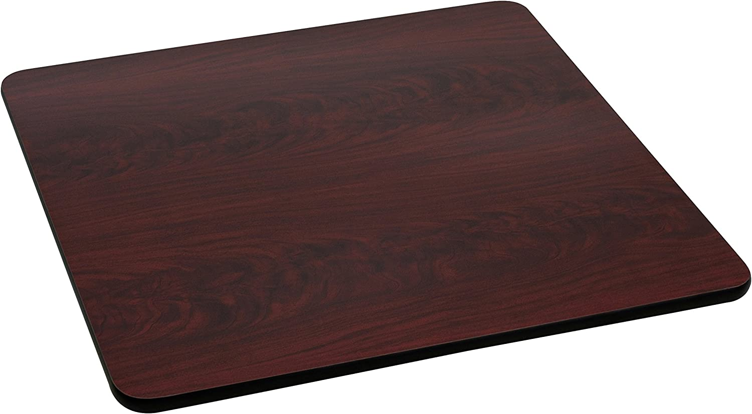 Flash Furniture 42-Inch Square Table Top with Black or Mahogany Reversible Laminate Top
