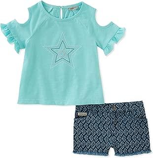 Calvin Klein- Conjunto de shorts y blusa, niña