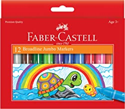 Faber-Castell Jumbo Washable Markers, Premium Broad Line Markers for Kids