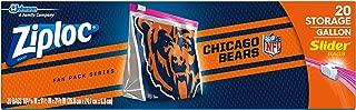 Ziploc Brand NFL Chicago Bears Slider Gallon, 20 ct