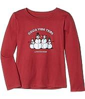 Good Vibe Tribe Long Sleeve Crusher Tee (Little Kids/Big Kids)