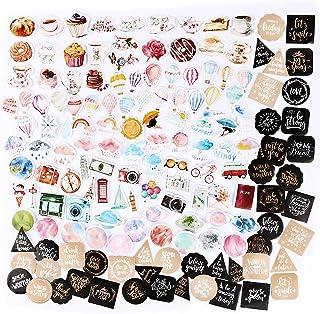274PCS Autocollants Stickers Etiquettes Adhésif DIY Style Simple Scrapbooking Album Photo 6 Boîtes pour Journal Plan Brico...