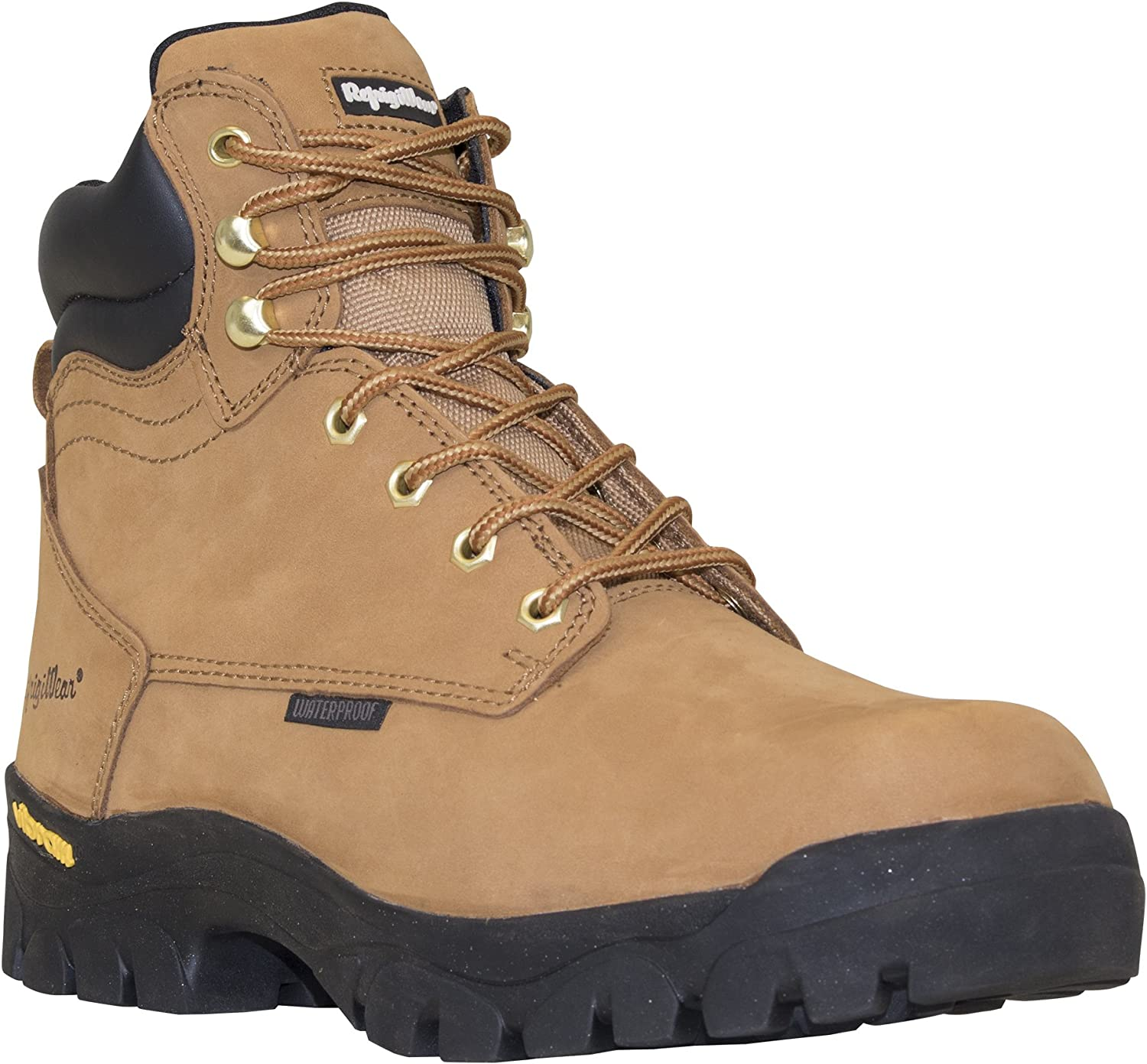 RefrigiWear Men's Ice Logger Warm Insulated Waterproof Tan Leather Work Boots