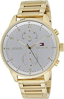 Tommy Hilfiger 1791576 Mens Quartz Watch, Analog Display and Stainless Steel Strap, White