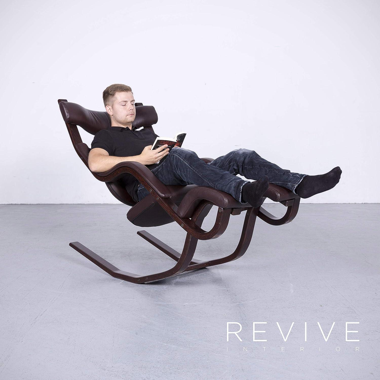 Stokke Gravity Balans Designer Leder Sessel Braun Echtleder ...