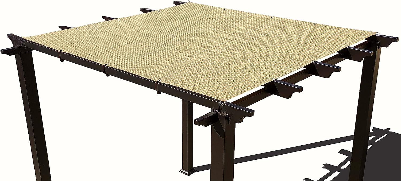 Alion Home Heavy Duty Shade Sail - Straight Edge Sun Shade Cover - Shade Cloth for Patio, Pergola, Backyard, Awning (Beige, 12' x 16')