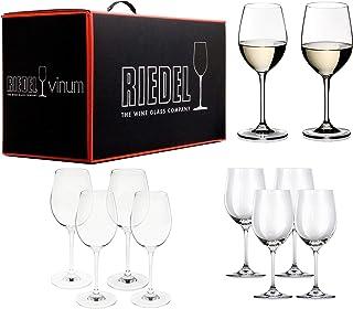 Riedel VINUM Pay 6 Get 8 Mixed White Varietal Set 4 Sauvignon Blanc/Dessert wine and Viognier/Chardonnay