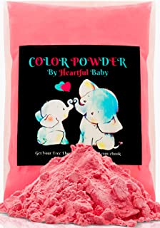 Baby Gender Reveal Party Supplies - 4lb Pink Color Powder 4 lbs Bag - Free Bonus Ebook- Girl She Her Announcement - Holi Festival Colored Powdered Smoke Bomb - Car Exhaust Burnout - 5k Fun Run