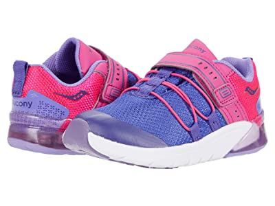 Saucony Kids S-Flash Glow 2.0 JR (Toddler) (Purple/Pink) Girls Shoes
