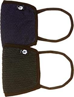 Fort Collins Unisex Cotton Face Mask (Pack of 2) (106_Navy_One Size)
