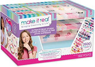 Make It Real - Ultimate Bead Studio. DIY Tween Girls Beaded Jewelry Making Kit. Arts and Crafts Kit Guides Kids to Design ...
