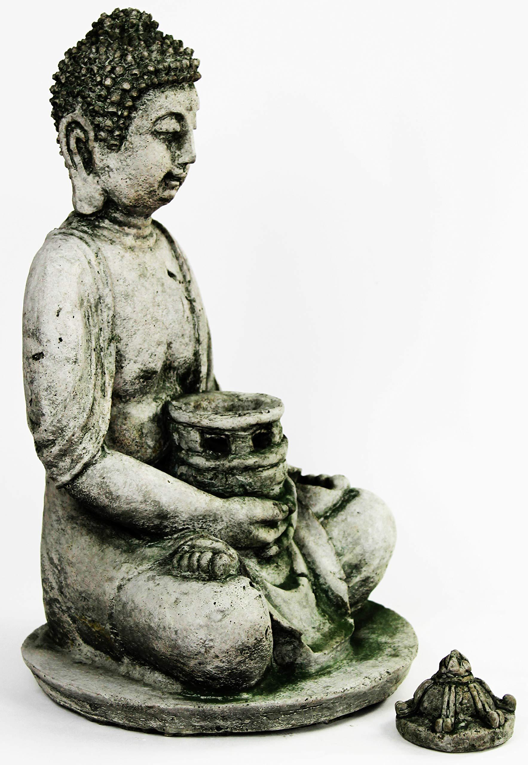 Farol de Buda escultura de hormigón Estatua Jardín asiático cemento: Amazon.es: Jardín