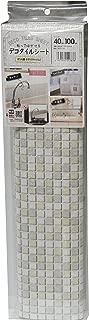 贴上后可撕下! 装饰瓷砖片 马赛克瓷砖 40cm×100cm DGT-05 WH(白色)