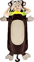 Catalonia Monkey Blanket for Kids,Hooded Wearable Snuggle Tail Blanket,Super Soft Plush Sleeping Bags for Toddler Children Teens Boys Girls,All Seasons,Gift Idea