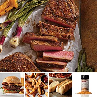 Omaha Steaks NY Strip & Burger Assortment (14-Piece with New York Strips, Gourmet Burgers, Steakhouse Fries, Mini Baguettes with Garlic Butter)